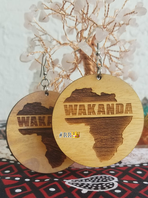 Wakanda Wooden Africa Earring Collection: Wakanda Circle