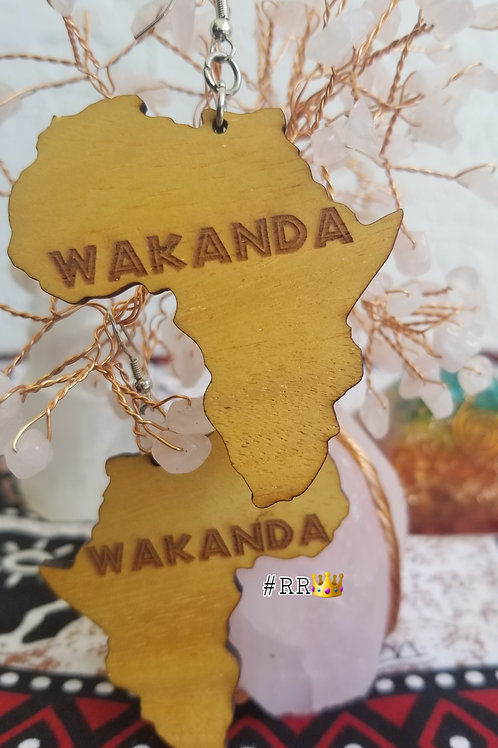 Wakanda Wooden Africa Earring Collection: Wakanda Africa