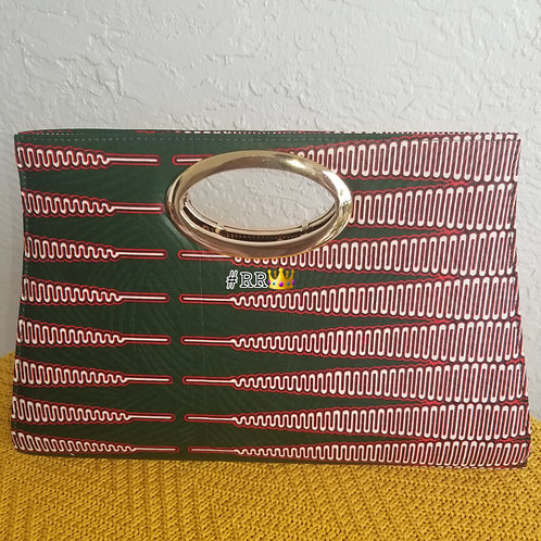 African Print Clucth Purse