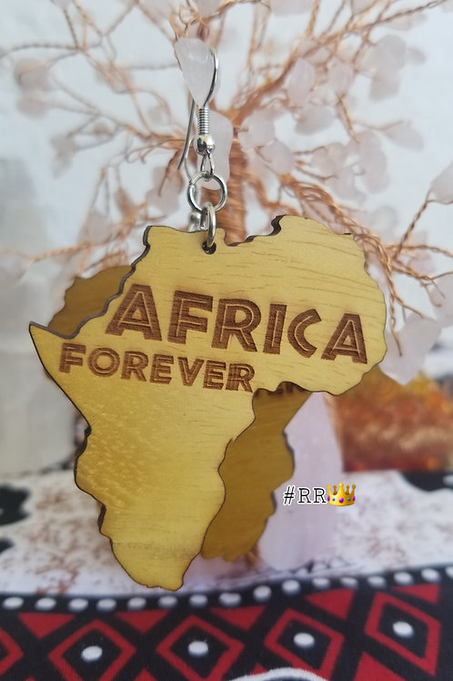 Wakanda Wooden Africa Earring Collection:Africa Forever