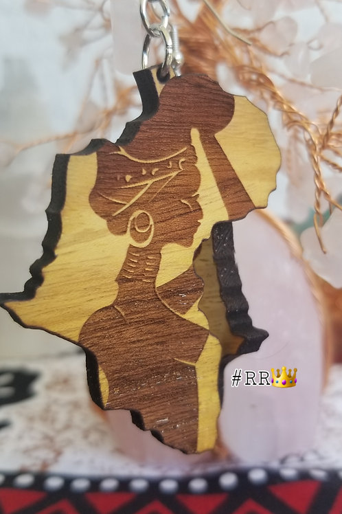 Wakanda Wooden Africa Earring Collection: Beauty