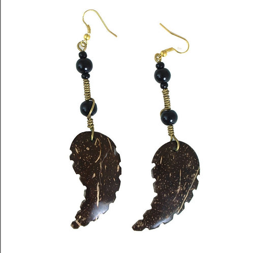 Kenyan Coconut Leaf Earrings