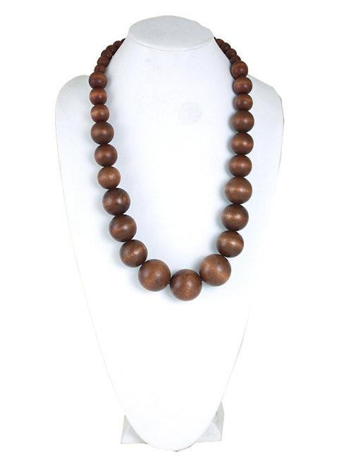 Kenyan Wood Bead Necklace