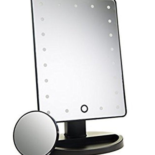 21 LED Lighted Makeup Mirror/Vanity Mirror with Magnifying Mirror