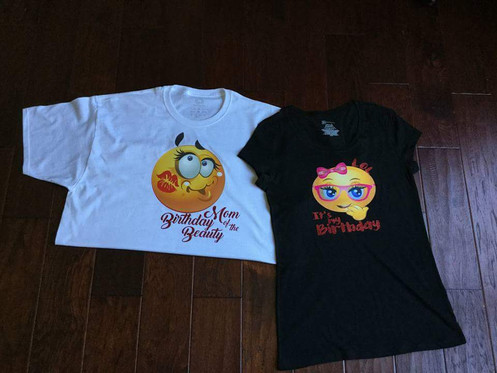 Customize And Order Your Emoji Birthday Tee From FMHCreations Today Just In Time For The Celebration