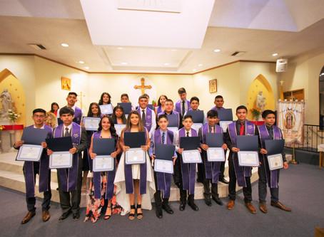 """First eighth grade class graduates from Escuela de Guadalupe"""