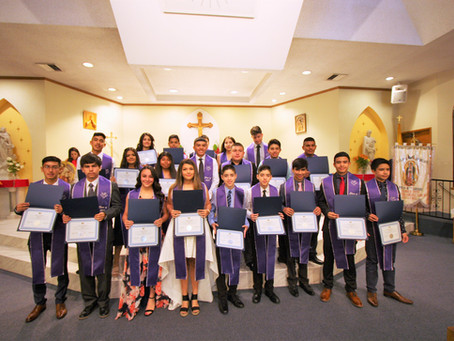 """First eighth grade class graduates from Escuela de Guadalupe"""