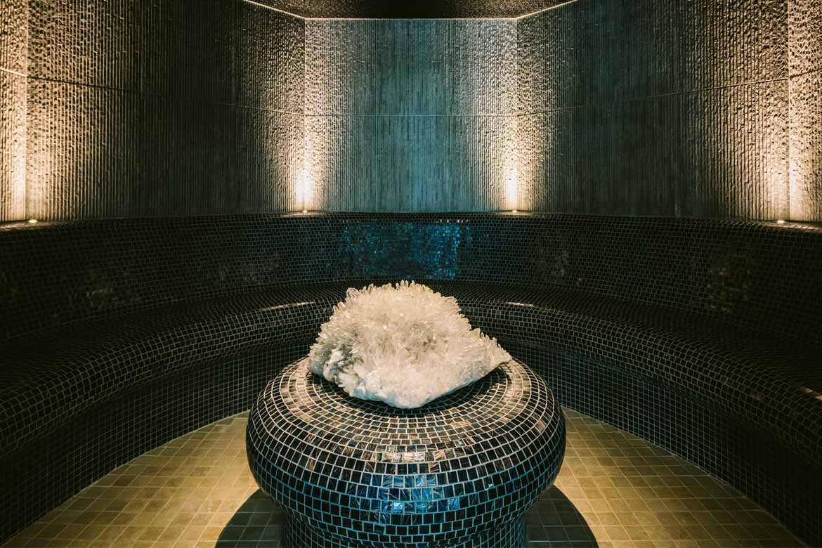 crystal salt steam room