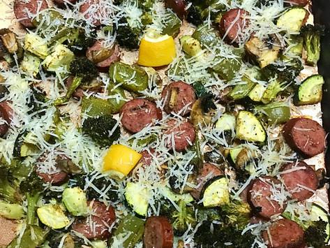 Sheet Pan Sausage & Veggies