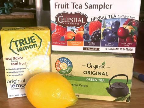 Not-Boring Water Option - Daily Lemon & Tea Drink
