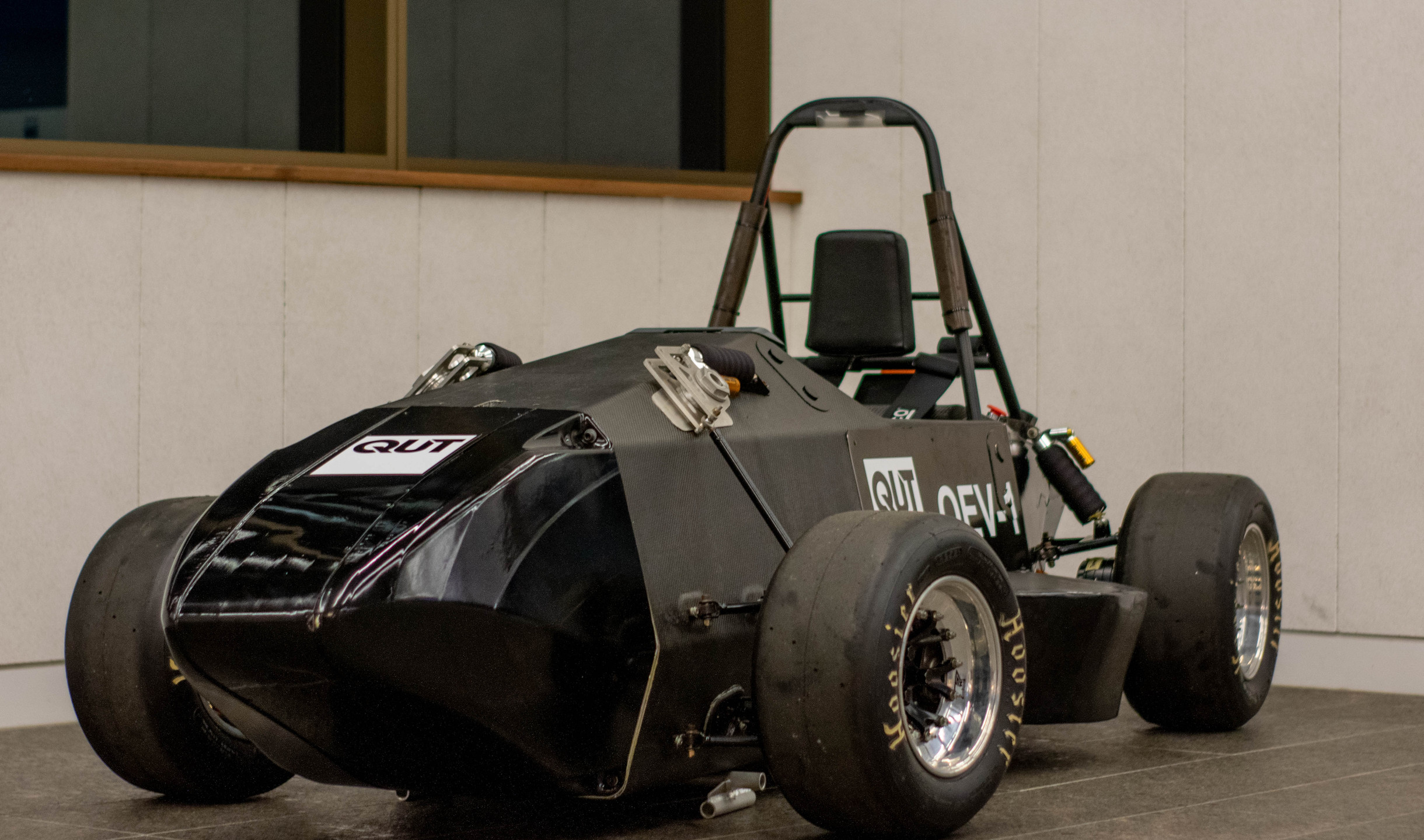 QEV1 on display at the Industry Night in the Owen J Wordsworth Room, Garden's Point Campus. Photo: Michael Hanau