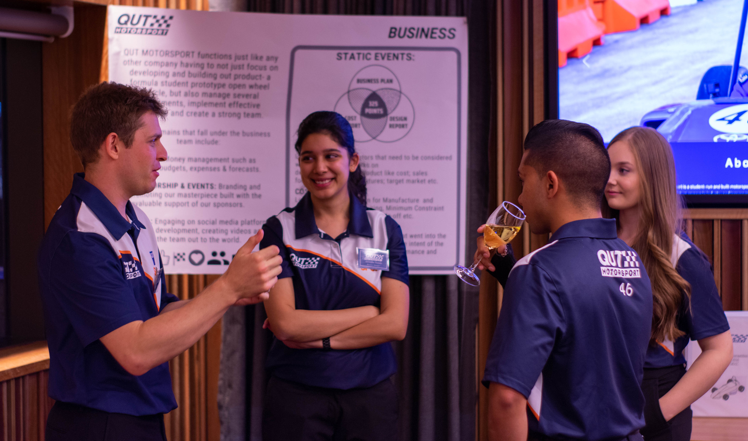 Some of our team Members and their displays at the Industry Night. Photo: Michael Hanau