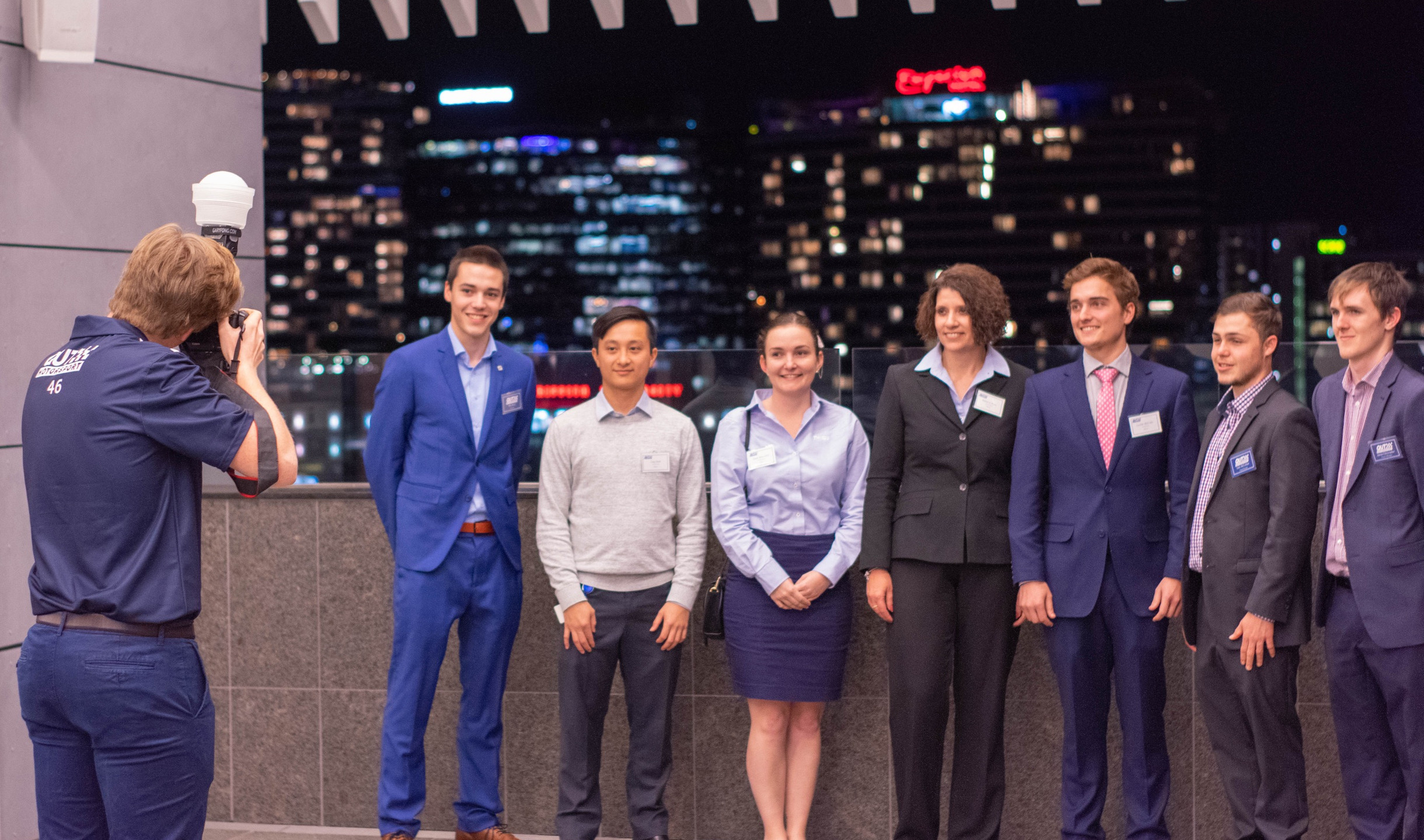 Our team members with Industry representatives. Photo: Michael Hanau
