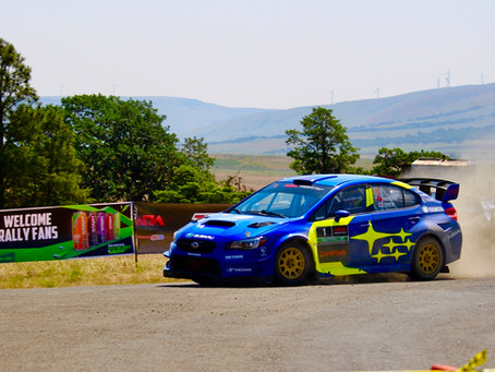Higgins Notches Number Ten at Oregon Trail Rally