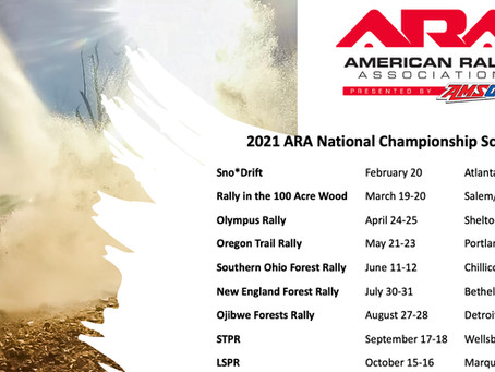 American Rally Association Sets 2021 Schedule
