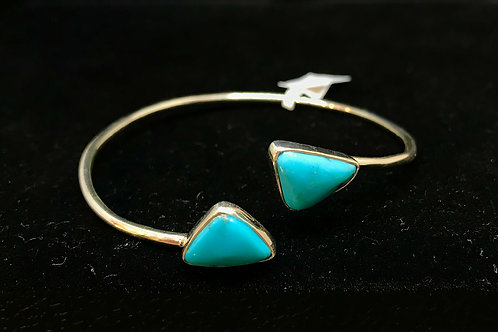 Turquoise Flexible Cuff Bracelet