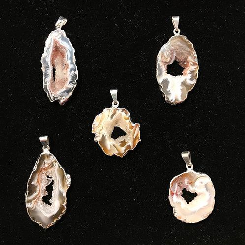 Geode Slice Pendant