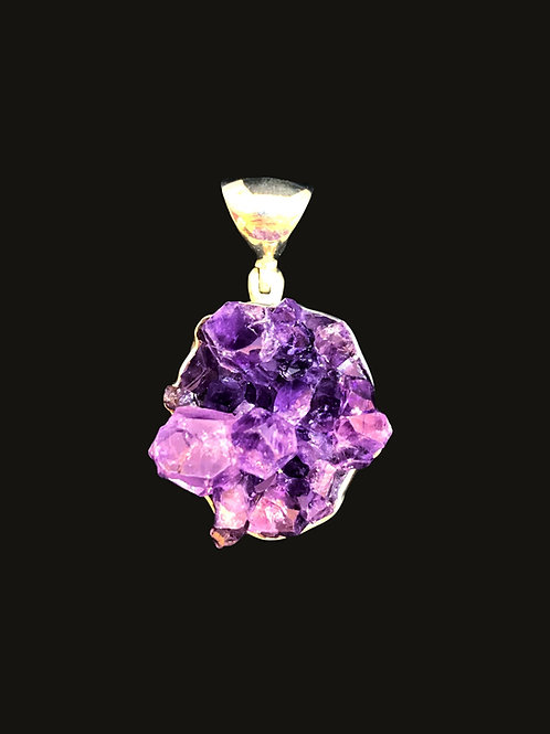 Amethyst Crystal Cluster Pendant