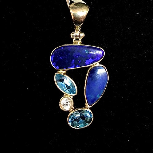 Opal and Topaz Pendant