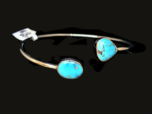 Turquoise Bracelet Flexible Cuff