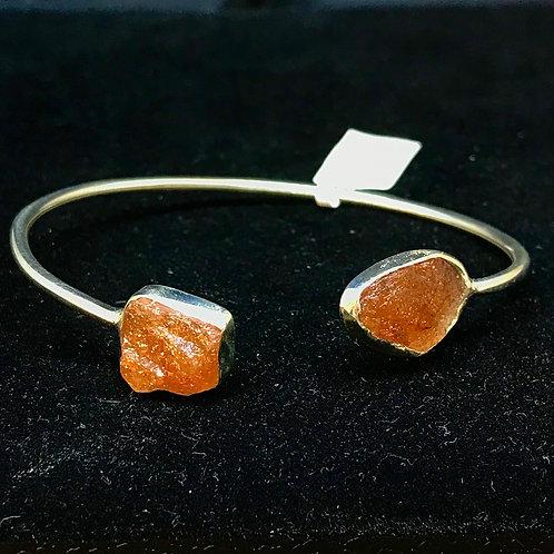 Sunstone Flexible Cuff Bracelet
