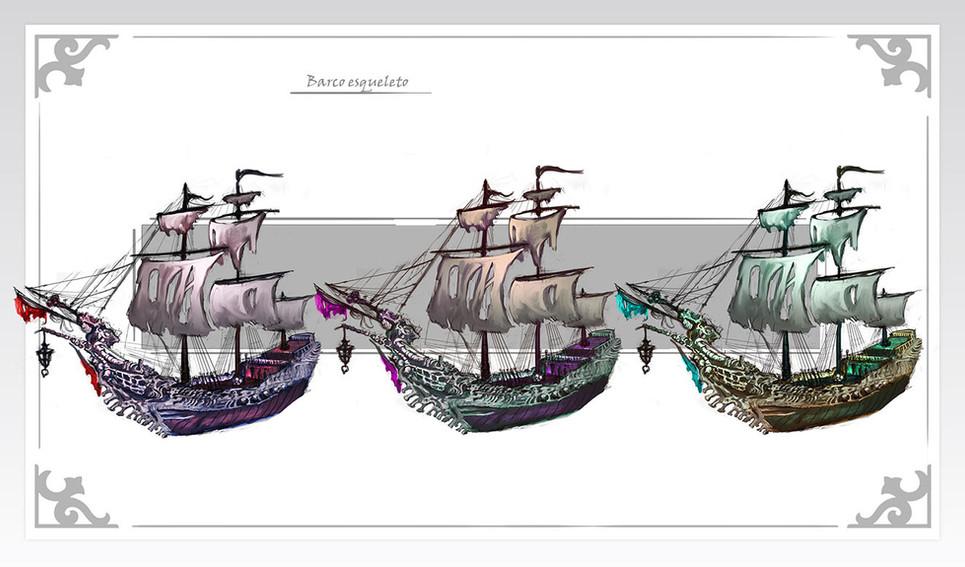 Barco esqueleto exploraciones de color.j