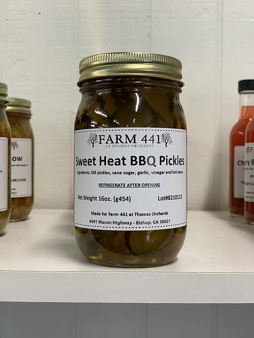 Sweet Heat BBQ Pickles - 16oz.