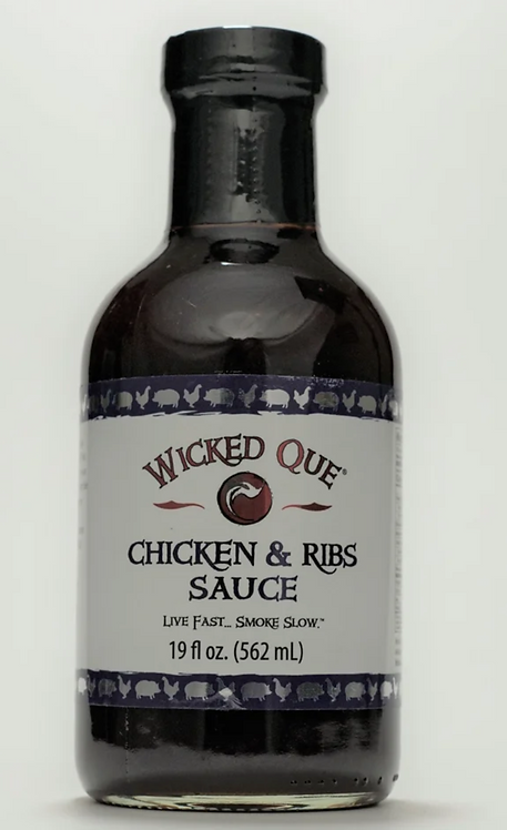 Wicked Que Chicken and Ribs Sauce