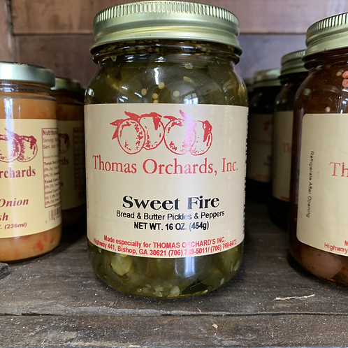 Sweet Fire Bread and Butter Pickles and Peppers - 16oz.
