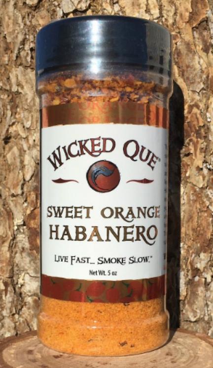 Wicked Que Sweet Orange Habanero Rub