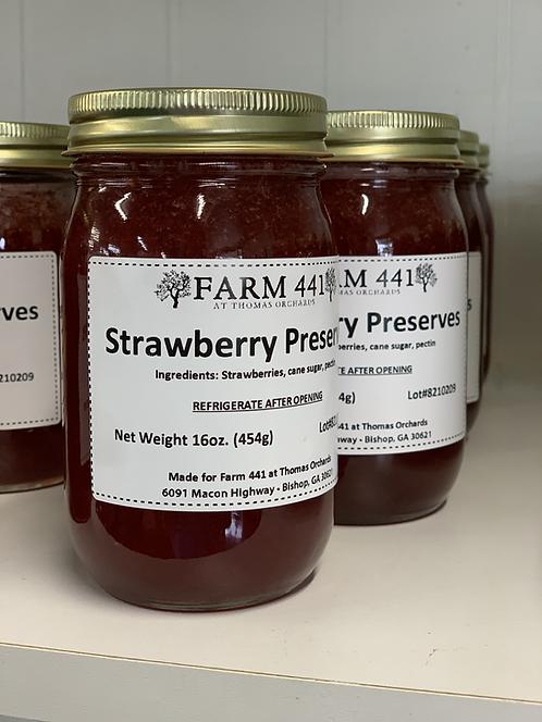 Strawberry Preserves - 16oz.