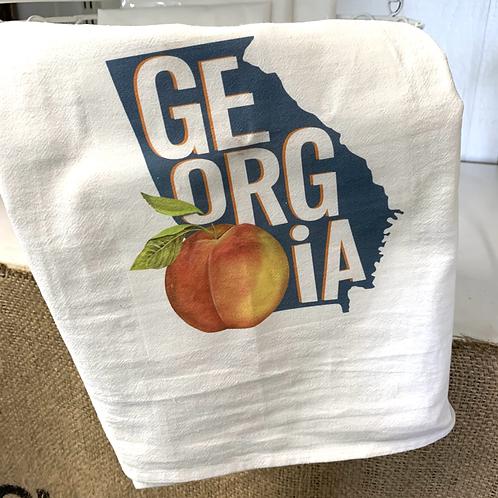 Flour Sack Tea Towel - Georgia Peach