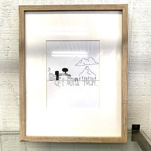 AJ Framed Art - Get Outta Town