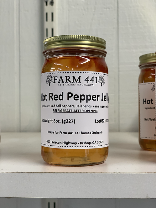 Hot Red Pepper Jelly - 8oz.