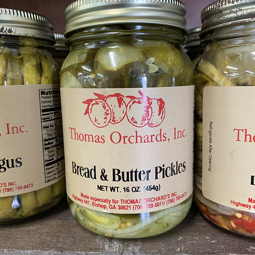 Bread and Butter Pickles - 16oz.