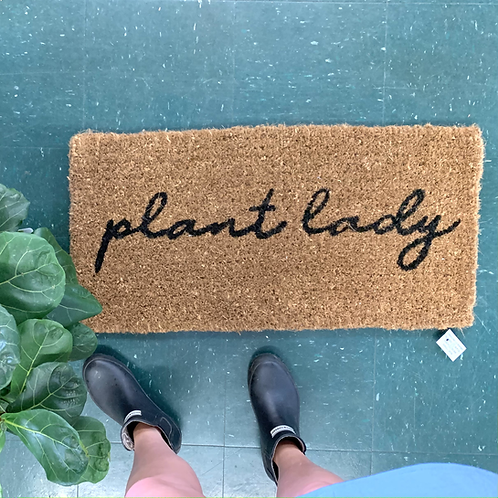 Plant Lady Door Mat