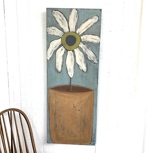 Cecel Allee Painting - White Flower in Terracotta Pot