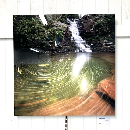 Chris Greer Photography - Swirling Waterfall on Aluminum