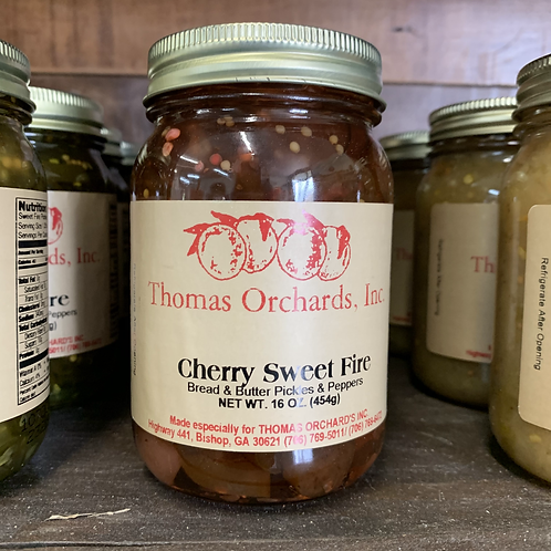 Cherry Sweet Fire Bread and Butter Pickles and Peppers - 16oz.
