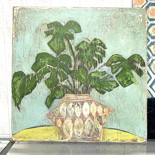 Andrea Love Painting - Philodendron in Vase