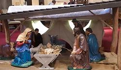 Nativity scene at Catholic Church Hawthor