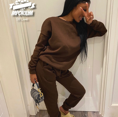 Brown Two Piece Tracksuit