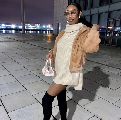 Brown Fur Jacket x Brown Ashanti Shades
