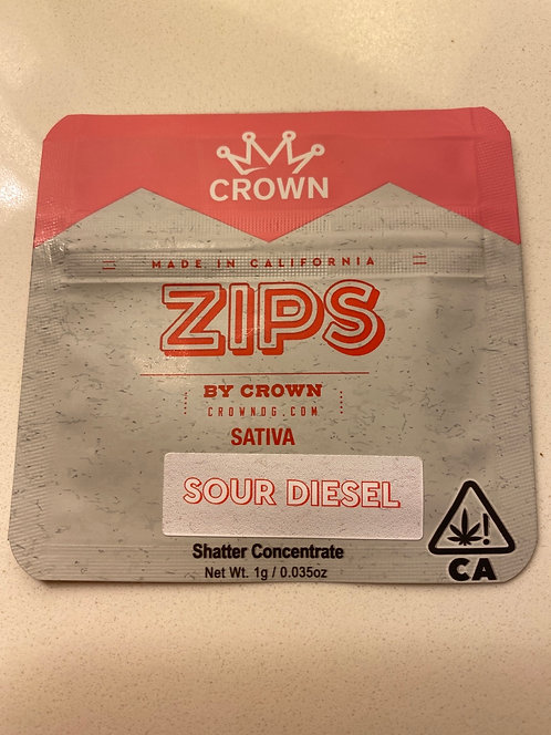 Zips 1 g Sour Diesel Concentrate (89.061%)