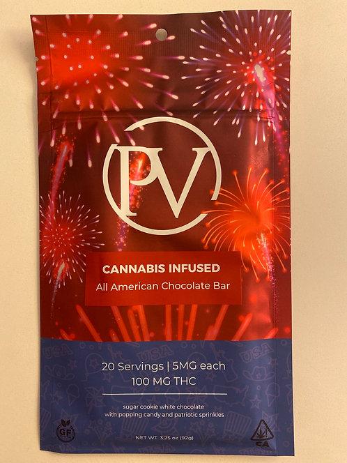100 mg All American Chocolate Bar by PV