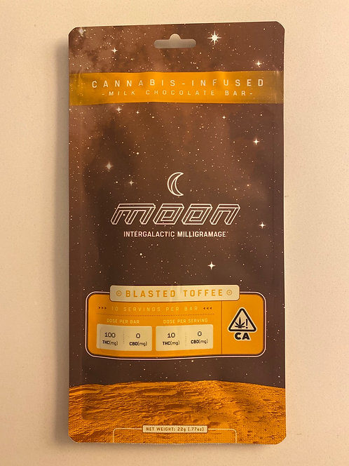 100 mg Blasted Toffee Milk Chocolate Bar