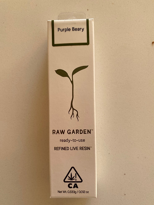 Purple Beary Live Resin Cartridge by Raw Garden