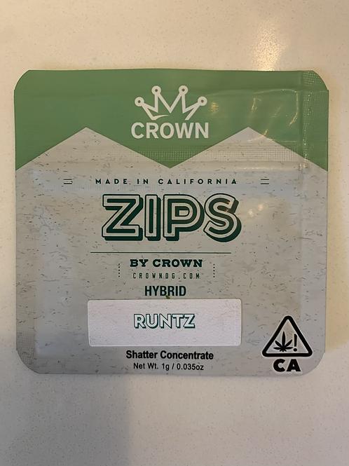 Runtz 1g Shatter by Zips — 87.404%