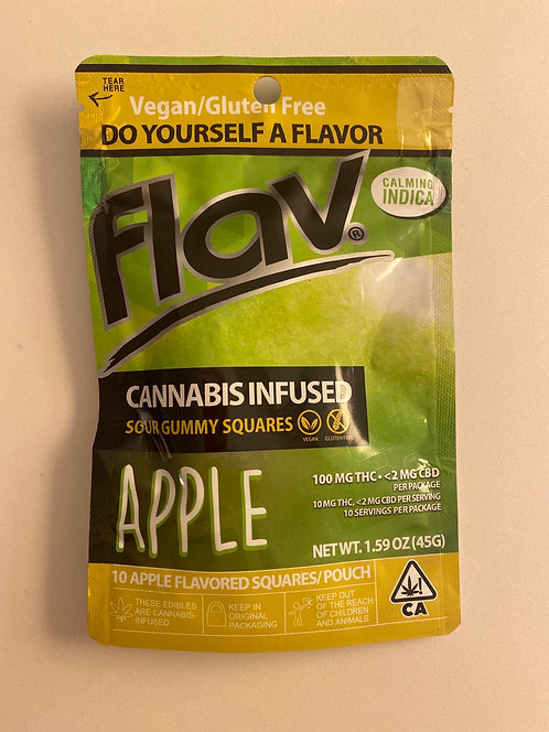 Co100 mg Vegan Gluten Free Apple Gummy Squares by Flav