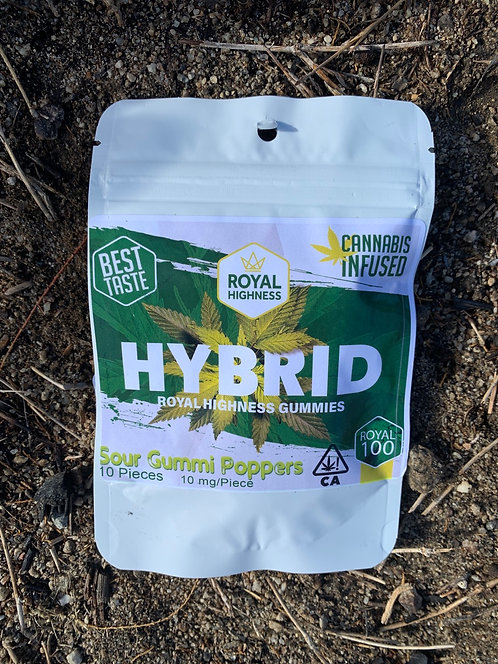 100 mg Hybrid Gummies Green Leaves